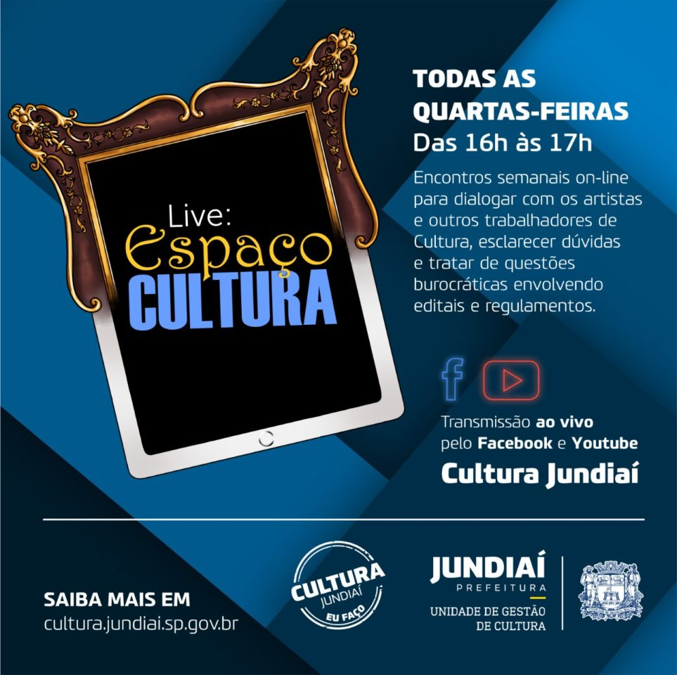 Facebook e YouTube da Cultura
